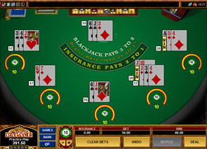 Multi-Hand European Blackjack Win