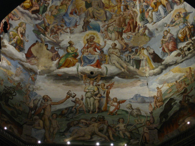 フィレンツェの宗教画のフリー写真素材