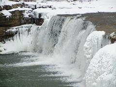 Little Sister Falls (Pandora-no-hako) Tags: park winter white snow ice water waterfall indiana limestone cataractfalls 2011 lieberstaterecreationarea