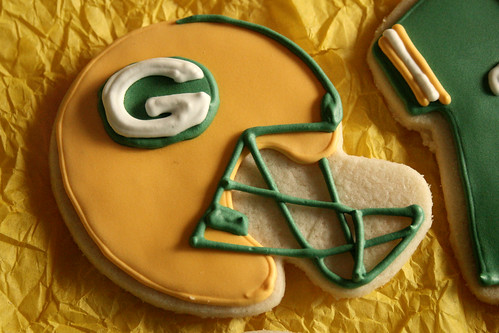 Packers helmet.