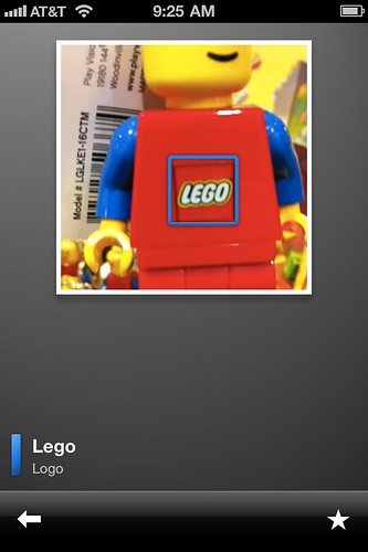 Foto de un muñeco de Lego en Google Goggles