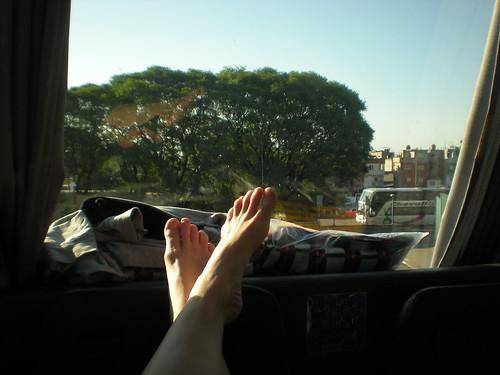 Double decker bus ride, Argentina