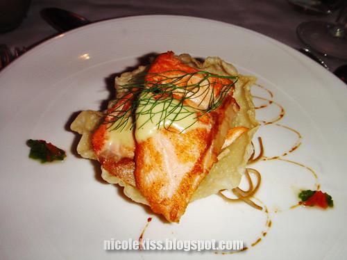salmon and mash potatoes