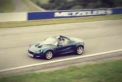 S1 at Speed (trisgti) Tags: motion blur france green car vintage lotus elise sony cybershot racing s1 circuit motorsport trackday dsct9 pauarnos