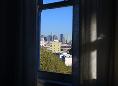 when you're downtown! (jslander) Tags: home apartment pillows livingroom condo pouf