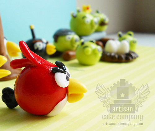 edible angry birds fondant toppers