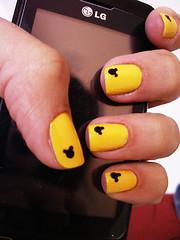 Mickey ☻ (Lila Chagas) Tags: cores nail polish mickey amarelo unhas nailart unha esmalte