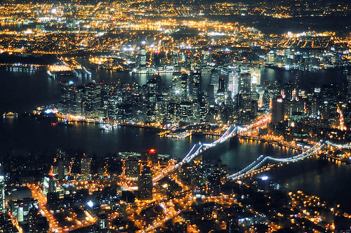 en route to laguardia at night, new york city