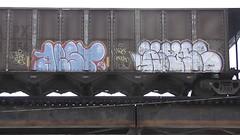 AEST & WYSE (BLACK VOMIT) Tags: train graffiti ol south dirty richmond mc dos va d30 mayhem freight wh wyse aest aest2
