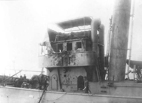 Augusto de Castilho, foto tirada do U-139 após a abordagem