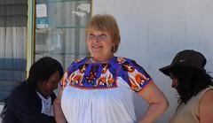 Mexican Blouse Hidalgo (Teyacapan) Tags: dogs mexico costume women gente embroidery blouse mexican perros mujeres picnik blusa bordado trajes regionales otomi hnahnu teyacapan hueytlalpan
