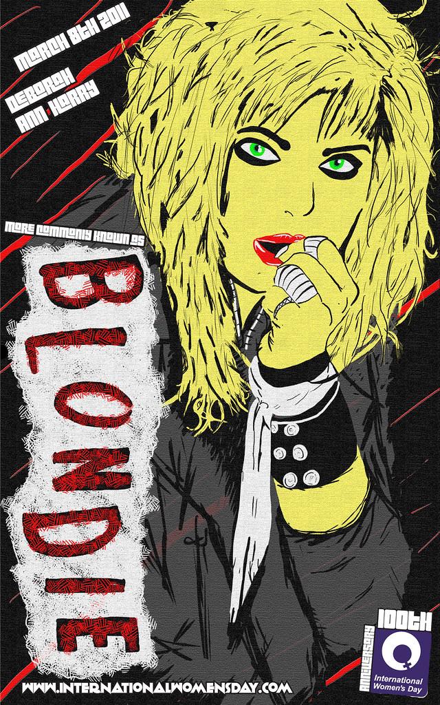 Text Blondie no border