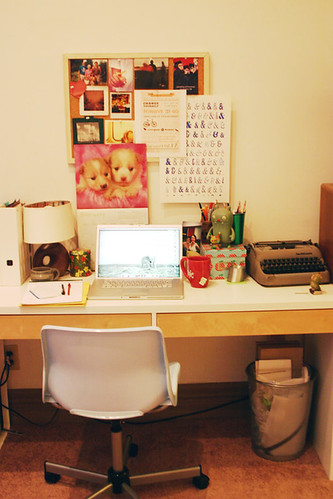 My desk, as of right now.