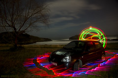 LP x-ray car (Athalfred DKL) Tags: light lightpainting luz night painting children de long exposure nocturnal sable asturias x led xray domo lp saber nocturna cod con llanes barro pintar darklight larga rayos exposición radiografía lightgraff dwcfflightpaint