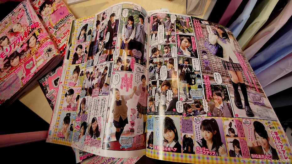 The teen mags are filled with school girl fashion - also some Lucy Pop ...