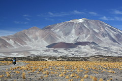 Cycling to Incahuasi (6,641m) (Pikes On Bikes) Tags: mountain argentina bike america cycling volcano south cycle bici touring altiplano cycletouring americadelsur incahuasi pikesonbikes bicitourismo