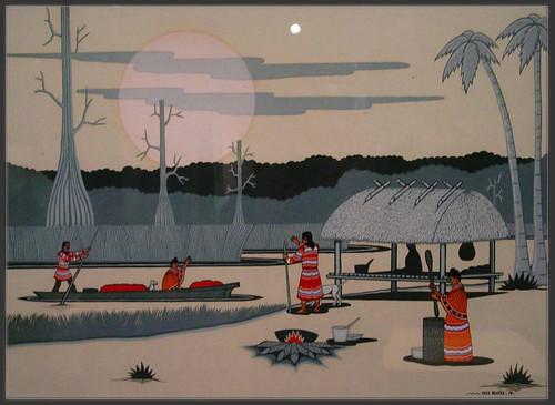 Beaver (1976),seminole,painting,musée