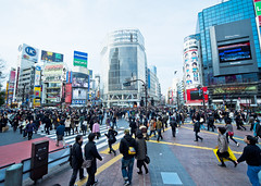 Busy Intersection (A7design1) Tags: road city people japan modern speed lost tokyo traffic crowd shibuya center move busy civilization metropolis  intersection  onthemove bystander        swarmofpeople