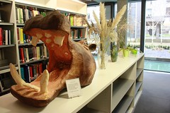 Morning Smile (Asbo the Hippo) (libatcam) Tags: cambridge sculpture library libraries hippo criminology cambridgeuniversity morningsmile universityofcambridge sidgwicksite radzinowiczlibrary criminologylibrary asbothehippo libatcam librariescambridge departmentofcriminology marshables