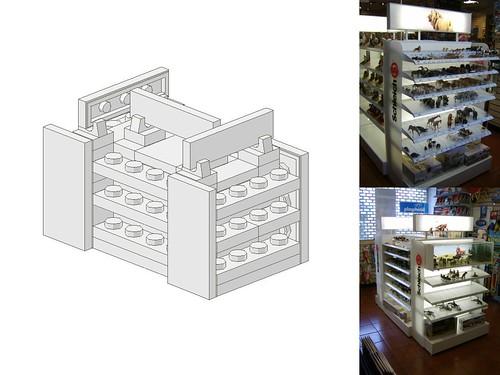 Work In Progress - LEGO® 'Loyds Toys' Toy Shop Schleich Stand Version 2