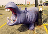 Purple Hippo (SOMETHiNG MONUMENTAL) Tags: statue canon purple indiana retro hippo roadsideamerica muncie attraction g11 somethingmonumental mandycrandell