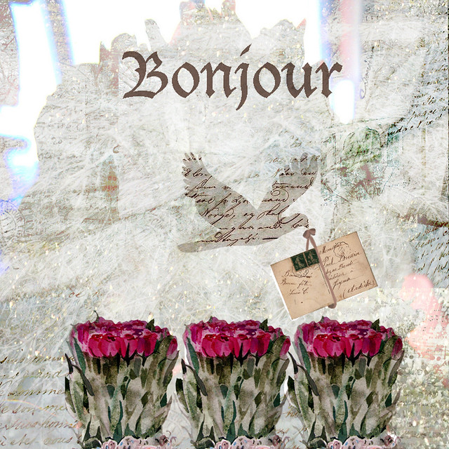 bonjour with french and my twinkle background
