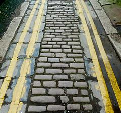 No Parking (Tim Green aka atoach) Tags: street lines yellow bradford quebec cobbles