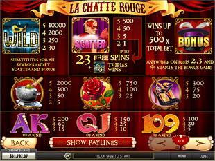 free La Chatte Rouge slot mini symbol