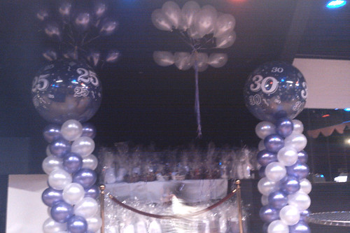 Ballonpilaar Breed Rond Dansschool Regina Rotterdam