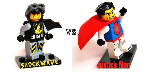 Custom minifig Shockwave or Justice Man