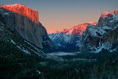 Yosemite Valley (sandy.redding) Tags: california sunset landscape halfdome elcapitan bridalveilfalls hdr alpenglow yosemitevalley photomatix nikkor1755mmf28ged