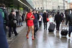 Come back of the pretty woman;-) (Che-burashka) Tags: woman london girl station smoking kingscross reddress humaninterest londonist