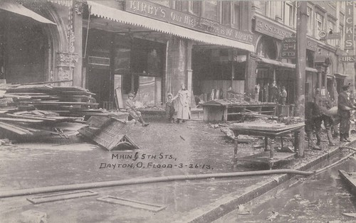 Main and Fifth Streets, Dayton, OH - 1913 Flood