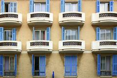 Balconies in Villefrance, France 27/3 2005 (photoola) Tags: 2005 france french frankreich riviera francia villefrance  balkong frankrike francja fasad ranska  photoola
