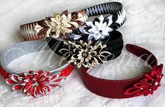 Headbands (MiLena_Lena) Tags: flower girl lady hair clip headbands accessory tsumami kanzashi kurokami