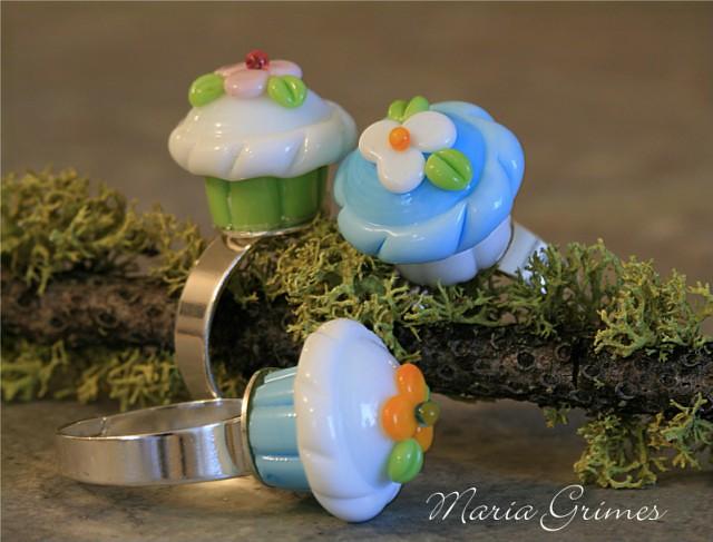 Lampwork Cupcake Ring