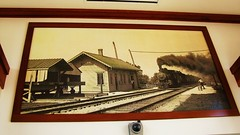 "Old Milwaukee Road steam era photo inside the ""New"" Wood Dale Illinois, Metra commuter rail station. Wednsday, March 2nd, 2011. by Eddie from Chicago"