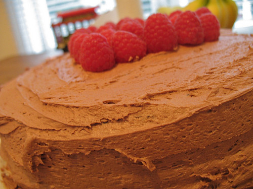 chocolate-raspberry-birthday-cake