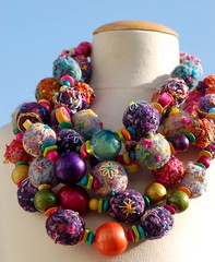 Spring fever (tamsyng) Tags: uk felted necklace handmade crochet multicoloured somerset etsy embellished beaded choker springfever folksy needlefelted funfunky embroideredbeads