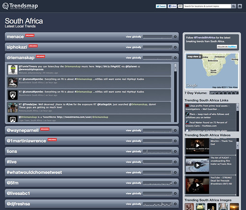 Driemanskap #3 on Twitter in SA