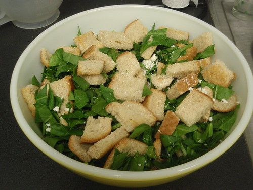 spinach, bread, feta cheese