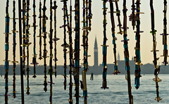 Murano Glass Curtain and the view over Venice (Beum Gallery) Tags: venice italy explore murano venise venezia italie verre glasswork isola veneto verrerie flickrexplore glasscurtain venesia explored  muranoisland   vitreria
