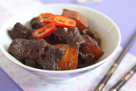 oriental beef with butter squash 2