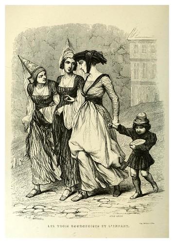 004-Las tres burquesas y el niño-Notre-Dame de Paris 1844- edicion Perrotin Garnier Frères