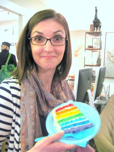 nicole's rainbow cake
