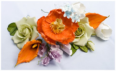 Sugar Flowers (Tina's Cakes) Tags: flowers rose cake israel calla ben sweet paste sugar ron lilly tulip bouquet weddings pea tinas fondant gumpaste cakery