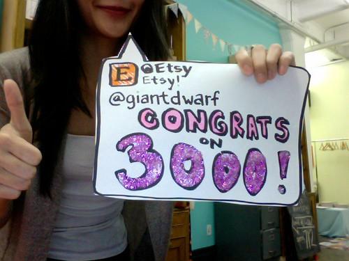 3000 Sales // Etsy Congrats