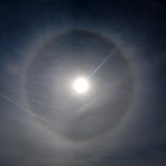 22-degree halo (Jeremy Stockwell) Tags: sky sun circle nikon halo ethereal photofriday atmosphericoptics sunhalo d40 22degreehalo jeremystockwellpix nikond40 photofridayethereal