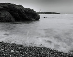 A Dark Foreboding (explore #146) (kenny barker) Tags: sea lighthouse monochrome landscape scotland fife panasonic explore g1 tqm elie daarklands trolledproud