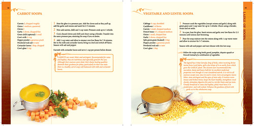 sample page showing carrot and lentil soup